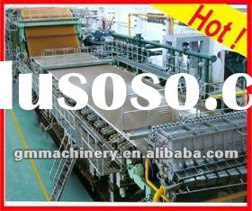 Fourdrinier paper machine, Printing paper making line, 2 - 50 T/D, waste paper, wood pulp, bagasse,
