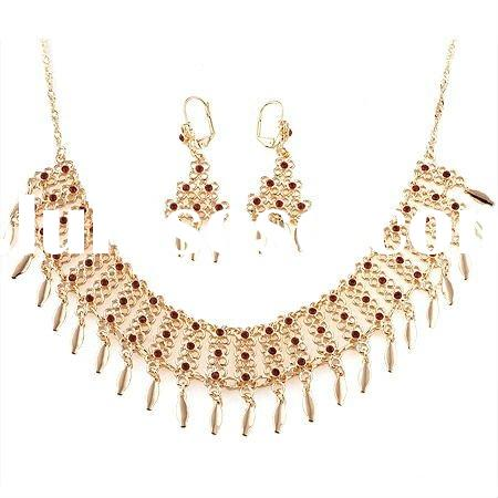 Free samples 2011 fashion jewelry set gold plated jewelry