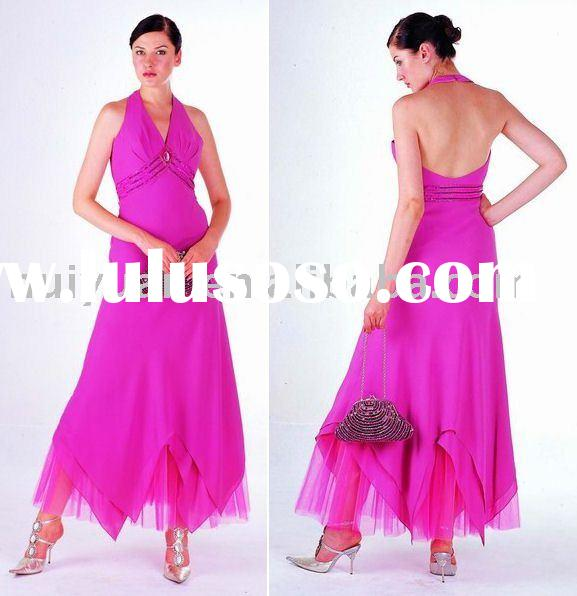 Fuchia evening dresses for pregnant women