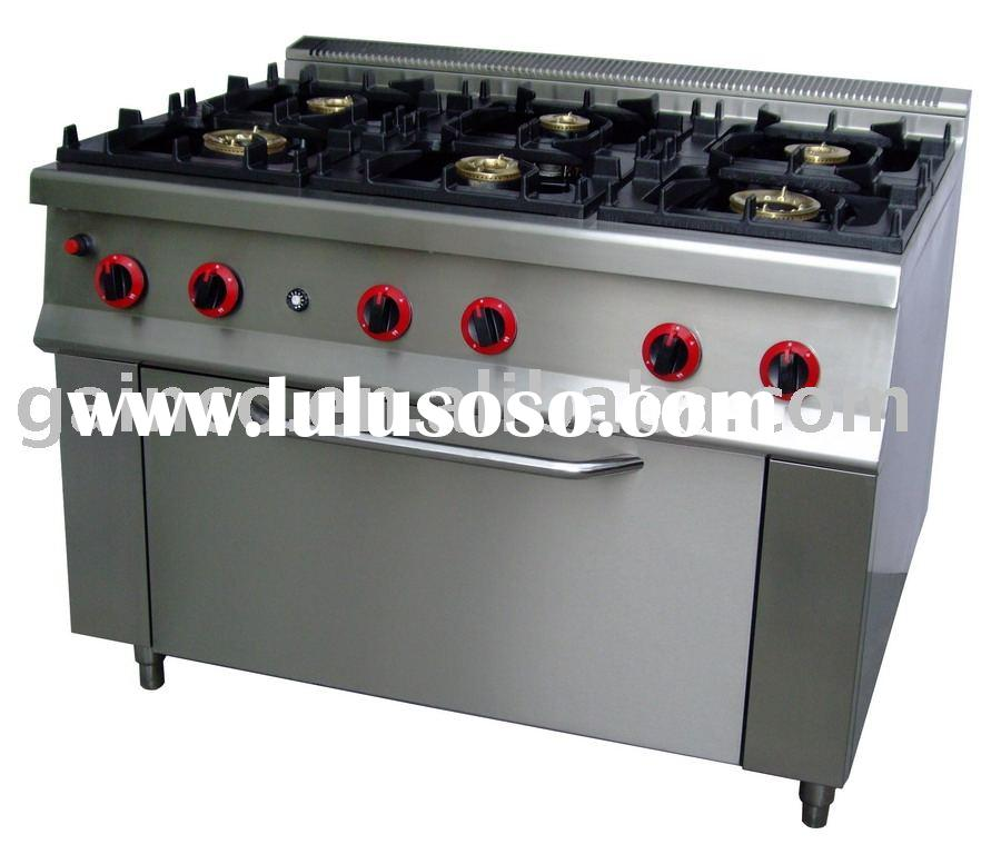 GB-6S 6-burner range with gas oven ( copper burner,catering equipment, cooking equipment )