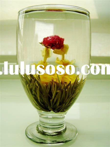 Green Tea Ball Flower is made of Organic Silver Needle Green tea, Jasmine Flower)