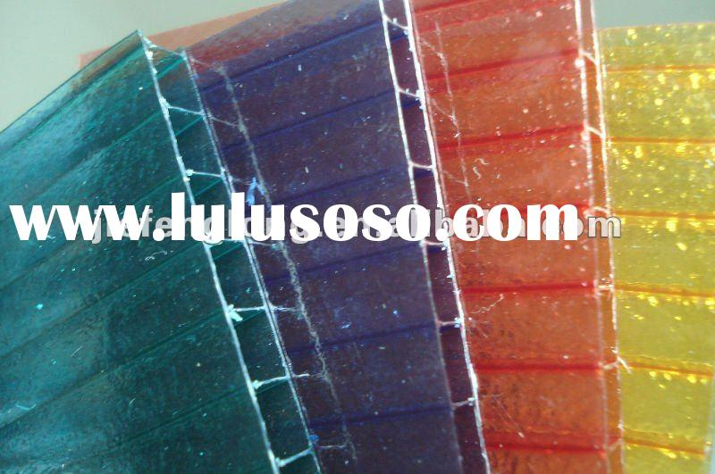 Greenhouse Sheet Sunhouse Panels Building Roofing Materials Polycarbonate Hollow Sheet Twin Wall Tri