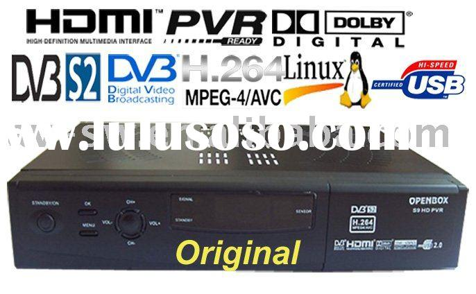HD set top box, openbox s9 hd twin tuner satellite receiver, pvr, internet sharing, cccam, linux