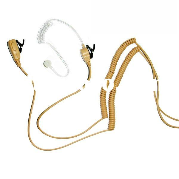 HMN9754D Beige Color Acoustic Tube Earpiece for Two Way Radio And Transceiver