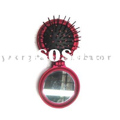 Hair comb, Portable mirror, Massage comb, Mirror brush,Travel comb, Foldable comb,
