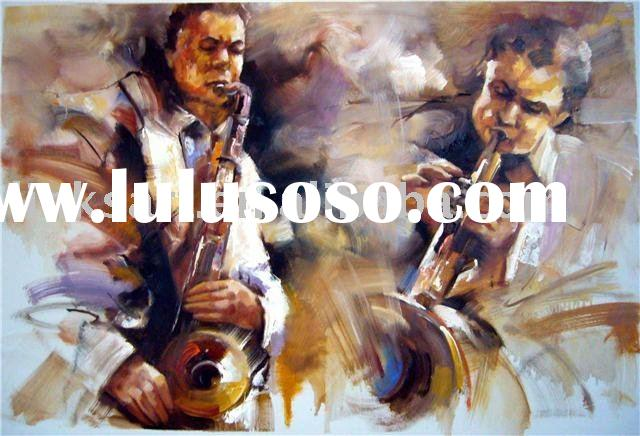 Hand-Painted Oil Painting Musician Oil Painting