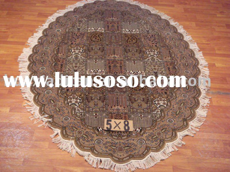Hand knotted silk and wool carpets/rugs