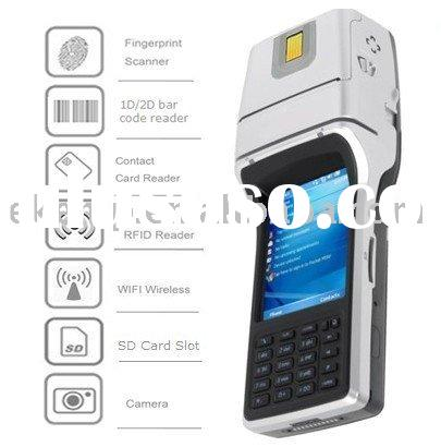 Handheld POS terminal with RFID reader,barcode scanner,GPS,WiFi,GPRS,Fingerprint (EK300)