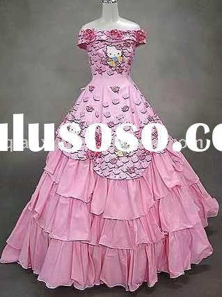 Hello kitty wedding dress H-09604