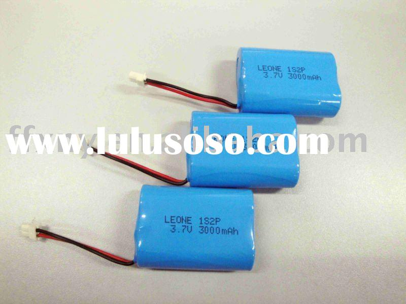 High Capacity Li-ion Battery 18500 1S2P Pack with Certificationa of UL/CE/ROHS/MSDS