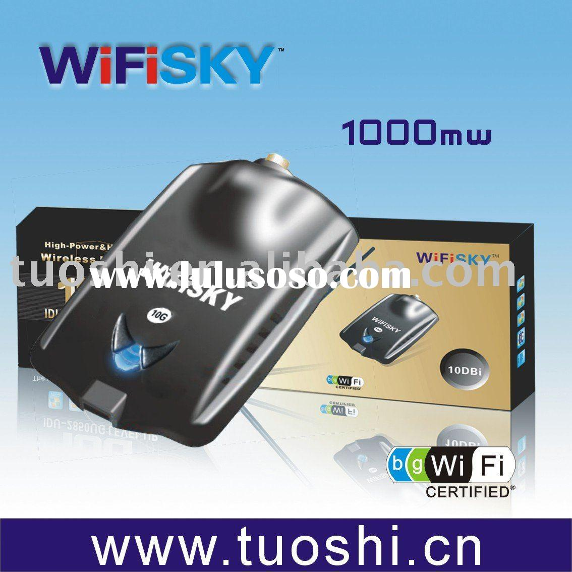 High Gain Wireless USB adapter with 10DB Antenna