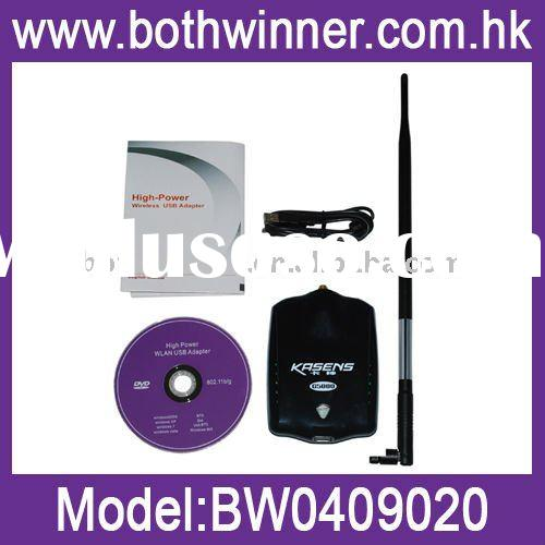 High Power 2000mW 802.11b/g USB Wireless WiFi Network Adapter