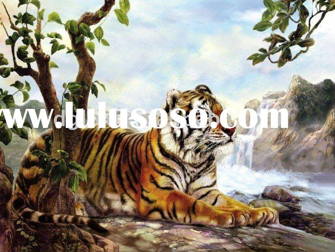 High definition 3D picture of tiger