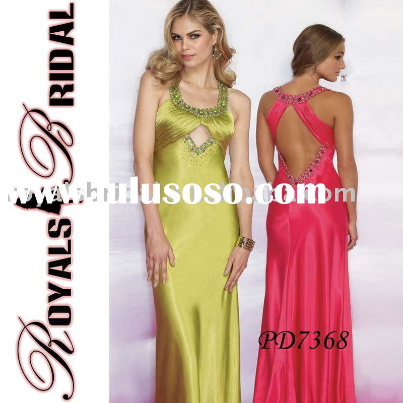 High-quality Satin Evening Dress Design PD7368