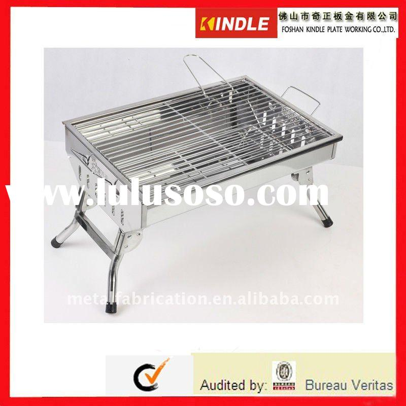 High quality folding stainless steel outdoor barbecue grill BBQ grill