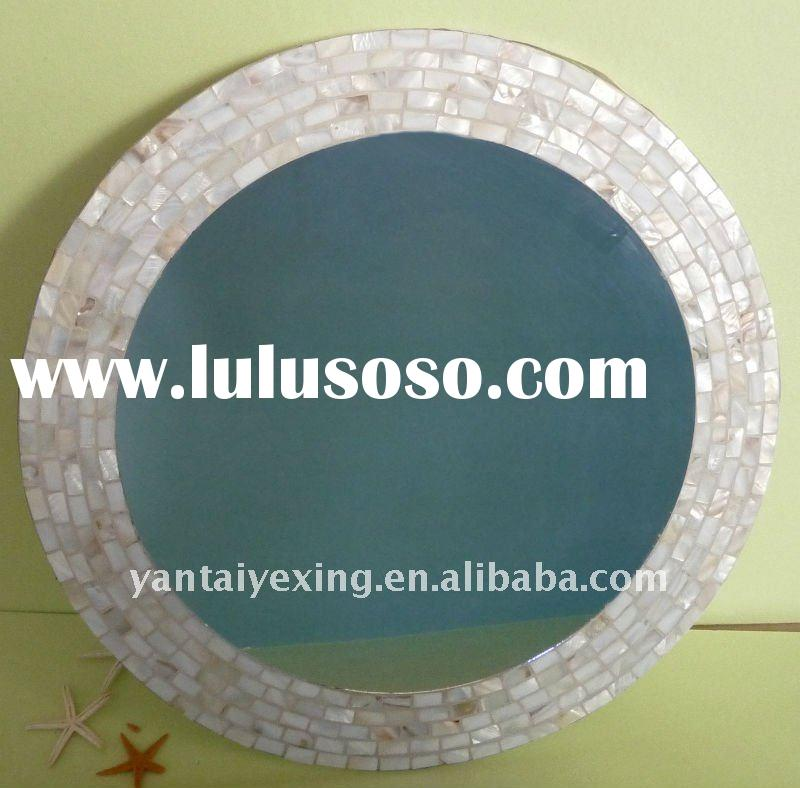 Home decoration, Glass mosaic mirror in seashell design