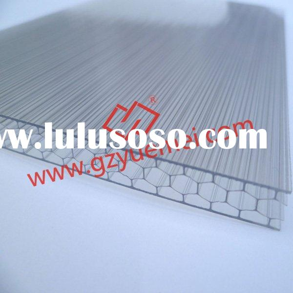 Honeycomb pc sheet, polycarbonate sheet, polycarbonate panel, sound barrier, 6mm, 8mm, 10mm