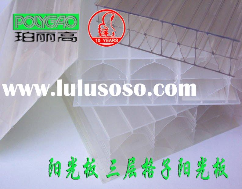 Honeycomb polycarbonate sheet/polycarbonate sheet