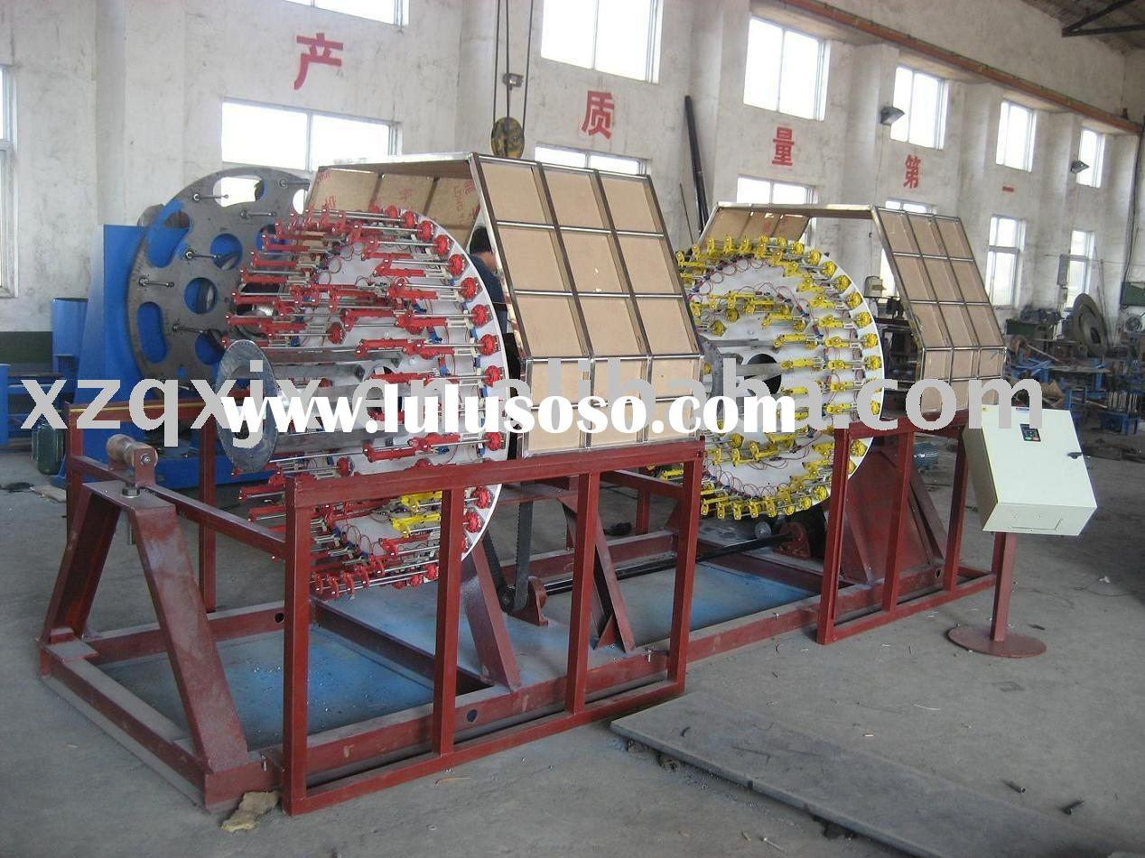 Horizontal double winding machine