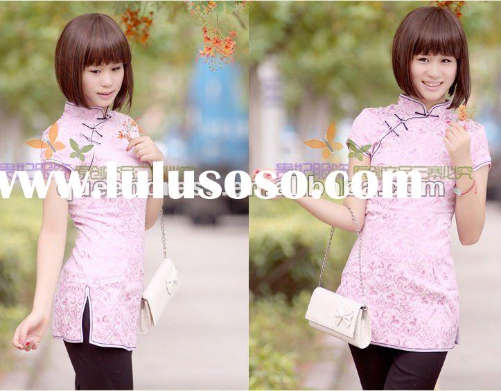 Hot Sale Chinese Ladies T-shirts /Chinese Tops/ Chinese Blouses