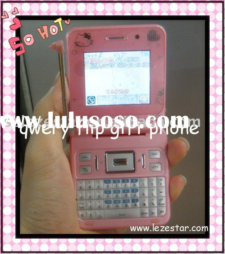 Hot Selling Cute TV Flip Phone with Qwerty Keyboard