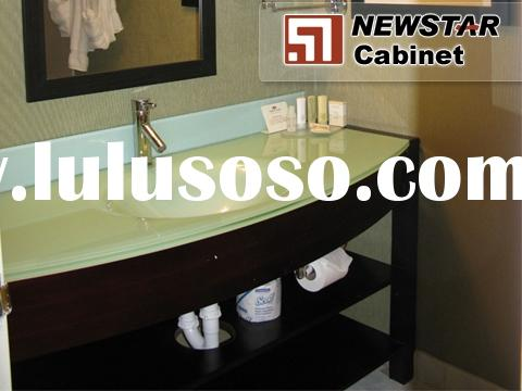 Hotel Vanity,Bathroom Cabinet,Bathroom Vanity,Wooden Cabinet,Bathroom Furniture with Glass Vanity To