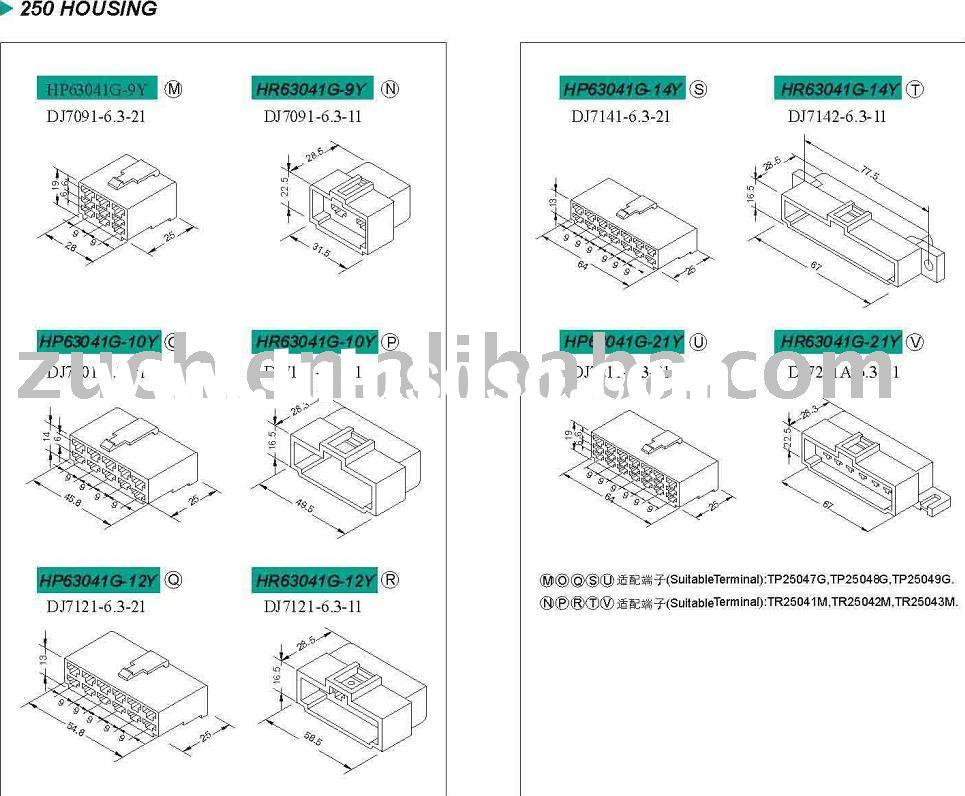 Housing&Connector Cable connector Connection terminal block cable terminal block Wiring terminal