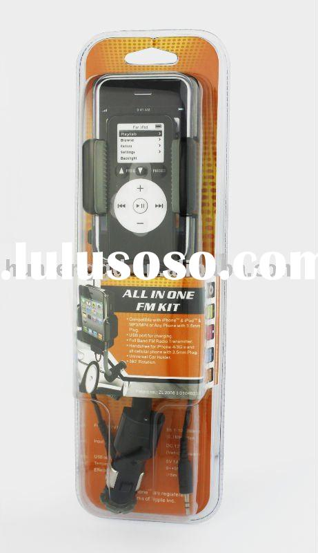 In Car Hi-Fi Hands-free Kit FM Transmitter Charger for iPhone 4