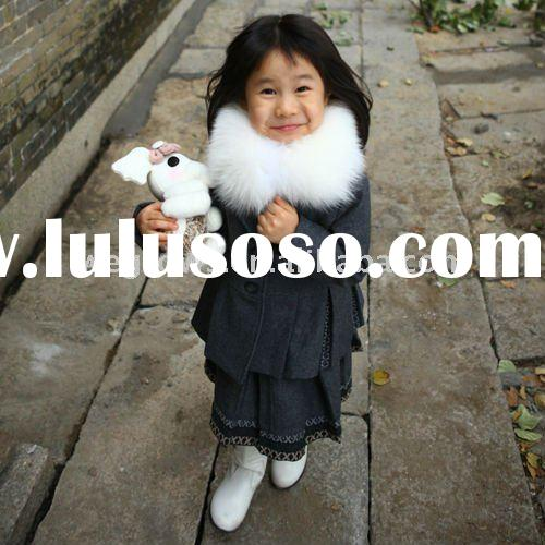 In fashion girls winter dress,100% cotton European material,child clothing ,extremely warm