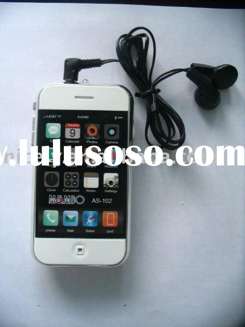 Iphone shape FM auto scan radio with earphone