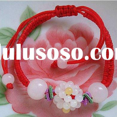 Jade beads flower bracelet, traditional chinese bracelet