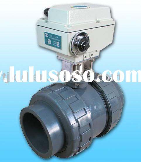 KLD1500 2-way electric operated Ball Valve(upvc) for automatic control,water treatment, process cont