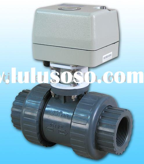 KLD400 2-way Motorized Ball Valve(upvc,cpvc) for automatic control,water treatment, process control,