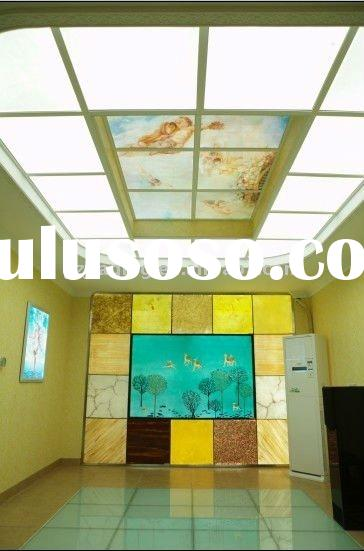 LED art glass wall panel