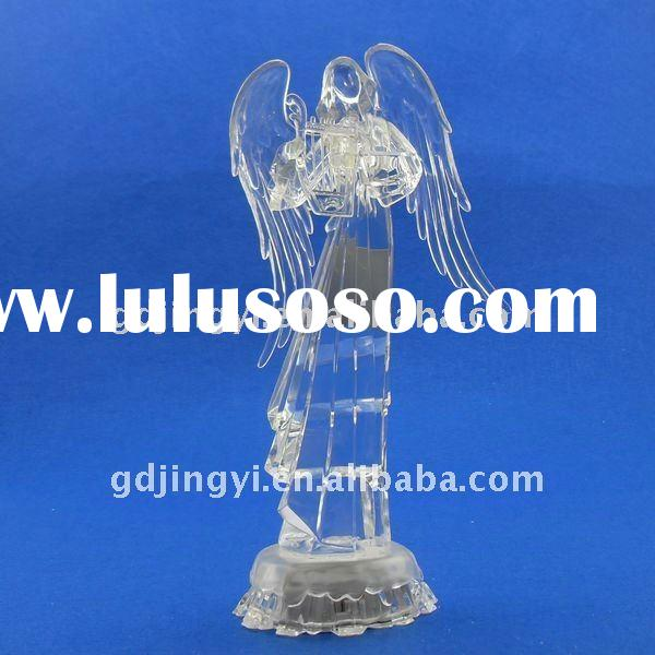 LED color changing acrylic angel decoration for Christmas