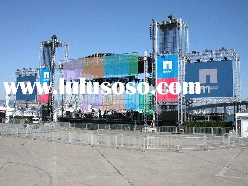 LED display screen support truss system
