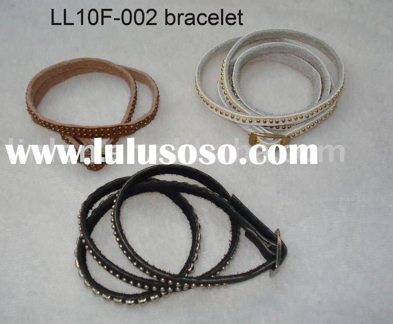 LL10F-002 bracelet leather bracelet fashion bracelet jewellery leather jewelry handmade leather brac