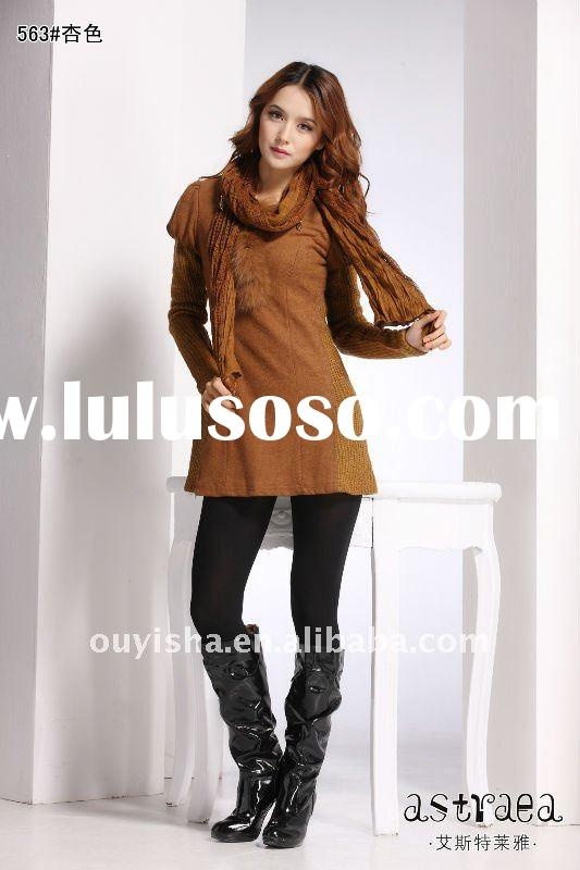 Ladies Fashion Spring wool Dress