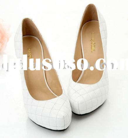 Lady wedding dress shoes, high heel shoes, PU shoes