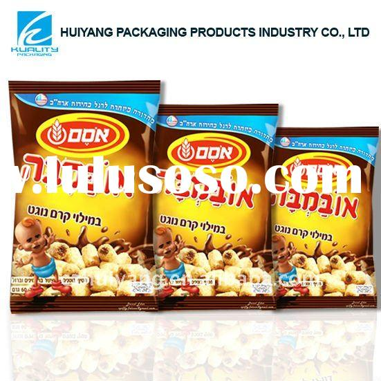 Laminated plastic container food packaging with heat seal