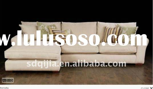 Latest European style modern living room fabric sofa set design