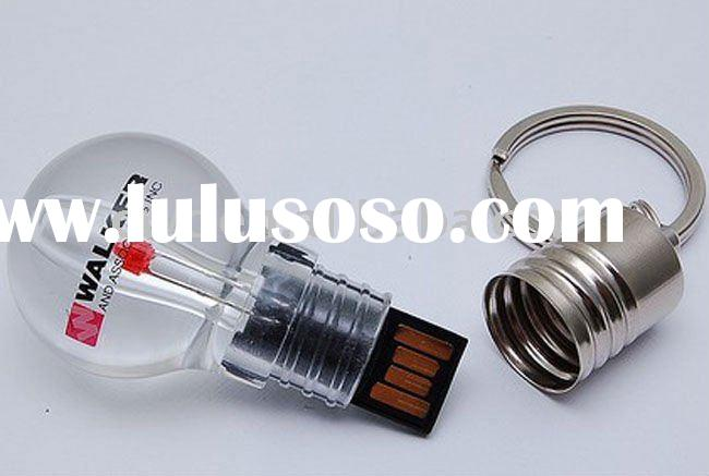 Light bulb usb flash drive with pad printing