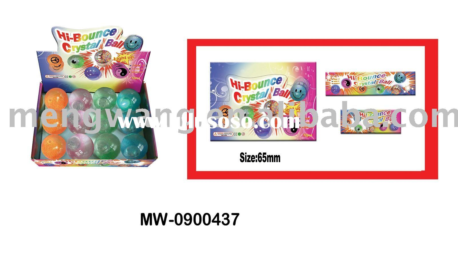 Light up bounce ball/Crystal bouncing ball/Glitter bouncing ball/Water ball/New-hot items