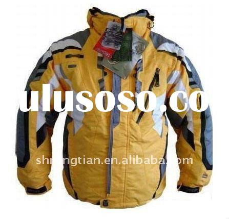 Man`s yellow ski jacket for ski