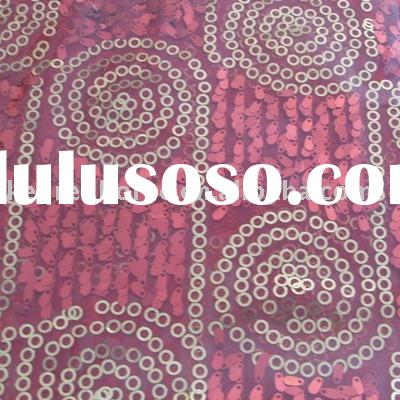 Mesh spangle embroidery fabric for garment