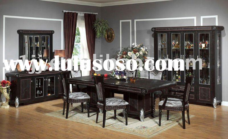 Middle east style wooden home furniture dining room set WLL-8827