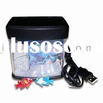 Mini USB Aquarium Fish Tank With Blue LED Light