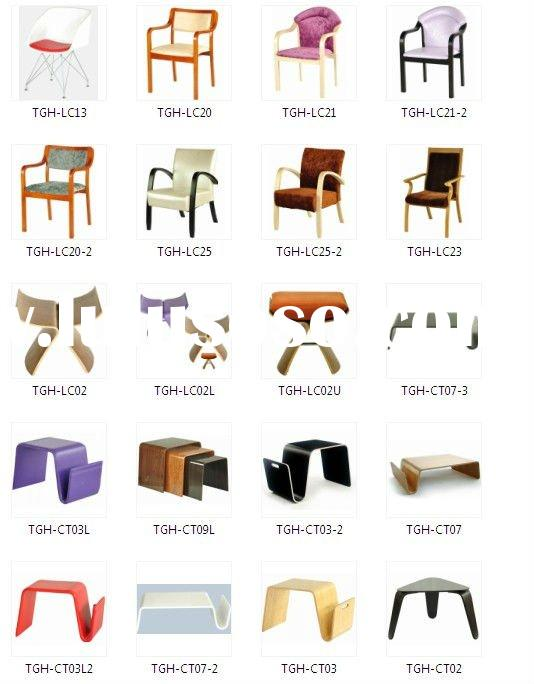 Modern bentwood furniture, table and chair