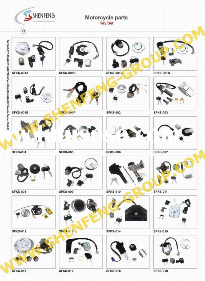 Motorcycle Key Set (key set,switch key,switch set,motorcycle parts)