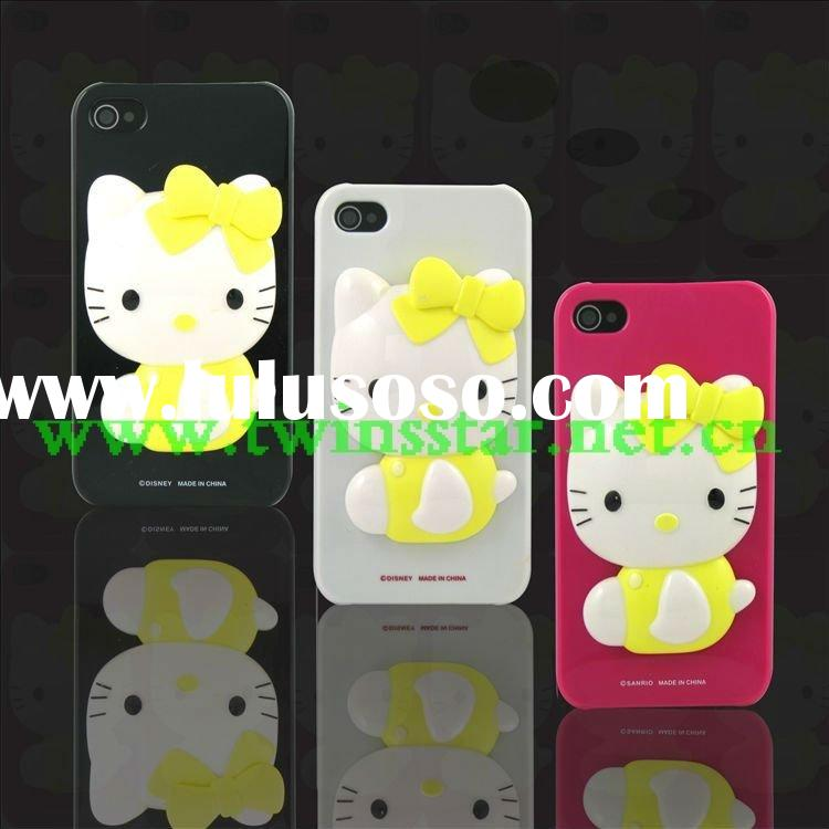 NEW!3D Hello Kitty mobile phone case for iphone 4